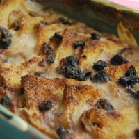 Vegan and GF Banana and Date Bread and Butter Pudding -  Vegan MoFo