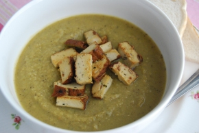 Pea and 'Ham' Soup (Smoked Tofu): Vegan MoFo 'British Classics Made Vegan' finale!