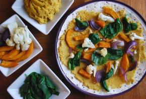 Indian inspired Lentil, Cauliflower and Pumpkin Quesadillas(Vegan)