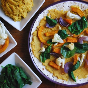 Indian inspired Lentil, Cauliflower and Pumpkin Quesadillas (Vegan)