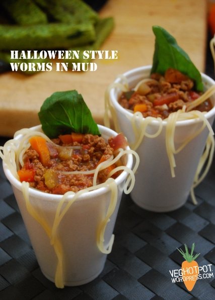 Spaghetti Bolognese in individual portions