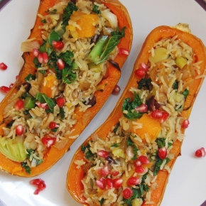 Spiced Rice and Cranberry Stuffed Coquina Squash: Vegan and Gluten Free!