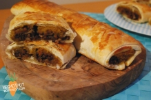 "Red Wine Lentil and Pumpkin ""Sausage Roll"""