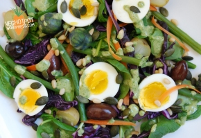 Winter Nicoise Salad with a Herb and Mustard Dressing(V)