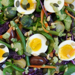 Winter Nicoise Salad with a Herb and Mustard Dressing (V)