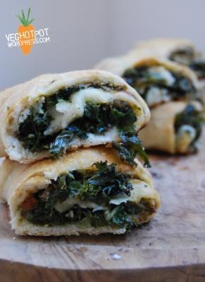 Butter Bean, Pesto and Kale StromboliPizza