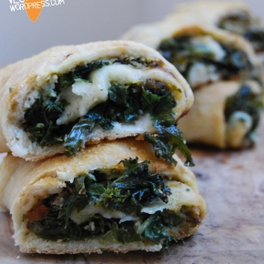 Butter Bean, Pesto and Kale Stromboli Pizza