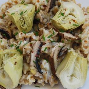 Artichoke and Mushroom 'Creamy' VeganPasta