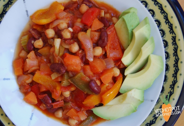 Rainbow Veggie Chilli (gf)