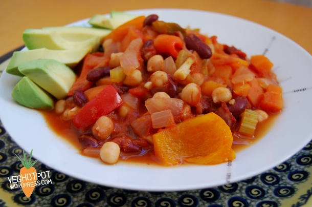 Simple and Healthy Vegetable Chilli