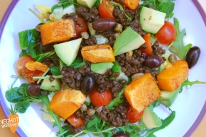Roasted Butternut Squash and Puy Lentil Salad