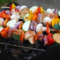 BBQ Veggie Fajita Wraps