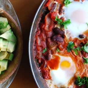 Mexican Style Beany BakedEggs