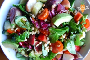 Holiday Inspired Salad with Peaches andAvocado