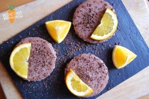 Raw Mini Chocolate Orange Cheesecakes – Vegan MoFo2014