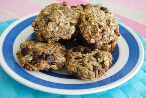 Vegan and Gluten Free Banana and Oat Cookies: Peanut Butter or Choc Chip (4 Ingredients!)