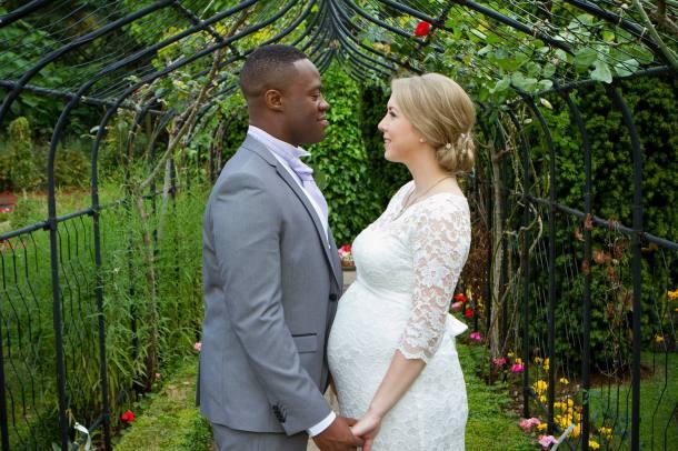 Sarah and Baba on their wedding day!
