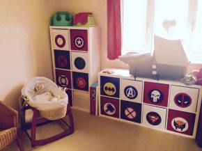 Our DIY Superhero nursery
